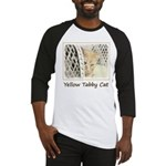 Yellow Tabby Cat Baseball Tee