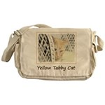 Yellow Tabby Cat Messenger Bag
