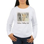 Yellow Tabby Cat Women's Long Sleeve T-Shirt