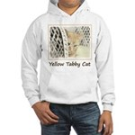 Yellow Tabby Cat Hooded Sweatshirt