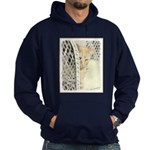 Yellow Tabby Cat Hoodie (dark)