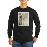 Yellow Tabby Cat Long Sleeve Dark T-Shirt