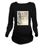 Yellow Tabby Cat Long Sleeve Maternity T-Shirt