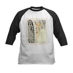 Yellow Tabby Cat Kids Baseball Tee