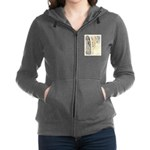 Yellow Tabby Cat Women's Zip Hoodie