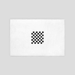 Checkered Flag Racing Chess Checkers C 4' x 6' Rug
