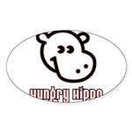 Hungy Hippo Collection Oval Sticker