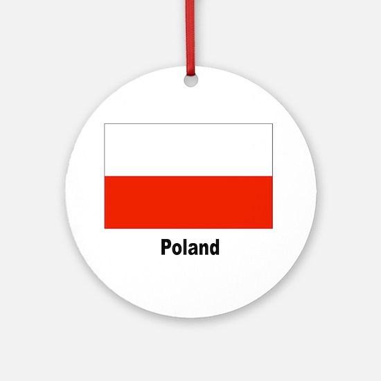 Poland Polish Flag Keepsake (Round)