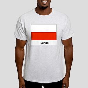 Poland Polish Flag (Front) Ash Grey T-Shirt