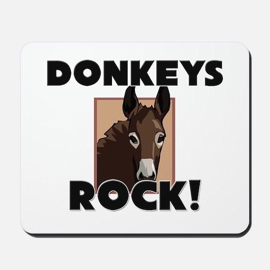 Donkeys Rock! Mousepad
