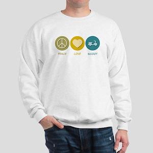 Peace Love Scoot Sweatshirt