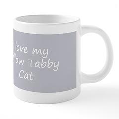 Yellow Tabby Kitten 20 oz Ceramic Mega Mug