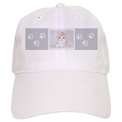 Yellow Tabby Kitten Baseball Cap