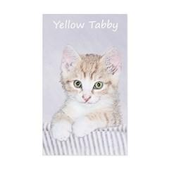 Yellow Tabby Kitten Sticker (Rectangle)