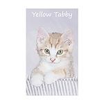 Yellow Tabby Kitten Sticker (Rectangle 50 pk)