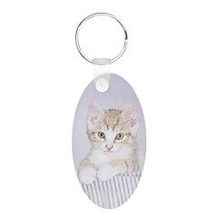 Yellow Tabby Kitten Keychains