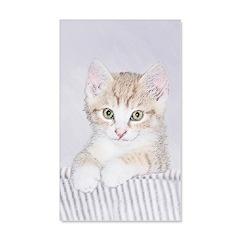 Yellow Tabby Kitten Wall Decal