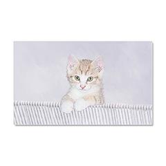Yellow Tabby Kitten Car Magnet 20 x 12