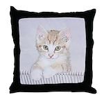 Yellow Tabby Kitten Throw Pillow