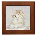 Yellow Tabby Kitten Framed Tile