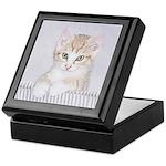 Yellow Tabby Kitten Keepsake Box