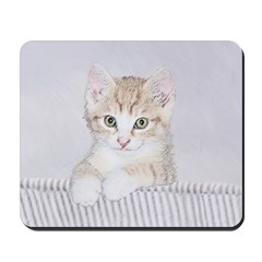 Yellow Tabby Kitten Mousepad