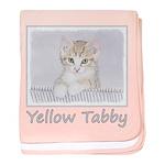 Yellow Tabby Kitten baby blanket