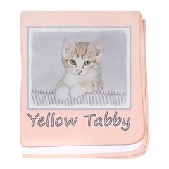 Yellow Tabby Kitten baby blanket