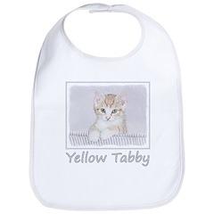 Yellow Tabby Kitten Cotton Baby Bib