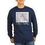 Yellow Tabby Kitten Long Sleeve Dark T-Shirt
