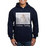 Yellow Tabby Kitten Hoodie (dark)
