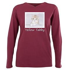 Yellow Tabby Kitten Plus Size Long Sleeve Tee