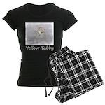 Yellow Tabby Kitten Women's Dark Pajamas