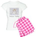 Yellow Tabby Kitten Women's Light Pajamas