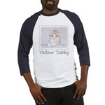 Yellow Tabby Kitten Baseball Tee