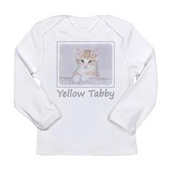 Yellow Tabby Kitten Long Sleeve Infant T-Shirt