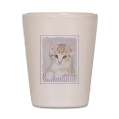Yellow Tabby Kitten Shot Glass