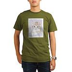 Yellow Tabby Kitten Organic Men's T-Shirt (dark)