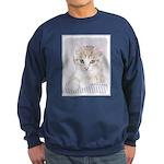 Yellow Tabby Kitten Sweatshirt (dark)