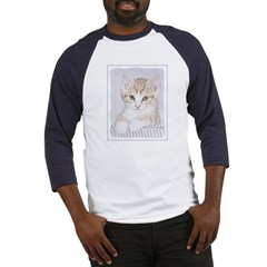 Yellow Tabby Kitten Baseball Tee