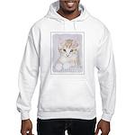 Yellow Tabby Kitten Hooded Sweatshirt