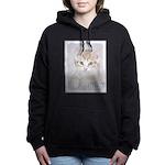 Yellow Tabby Kitten Women's Hooded Sweatshirt