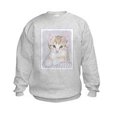 Yellow Tabby Kitten Sweatshirt