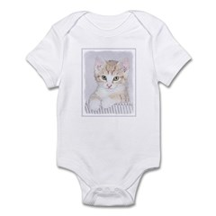 Yellow Tabby Kitten Baby Light Bodysuit