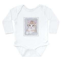 Yellow Tabby Kitten Long Sleeve Infant Bodysuit