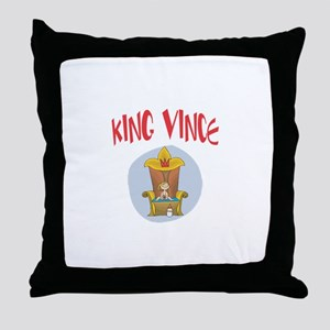 King Vince Throw Pillow