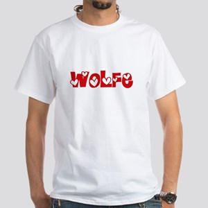 Wolfe Surname Heart Design T-Shirt
