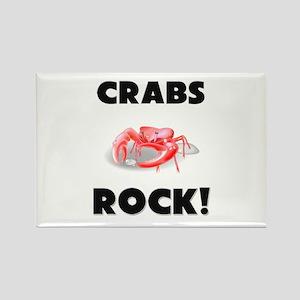 Crabs Rock! Rectangle Magnet