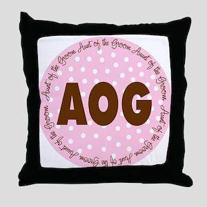 Polka Dot Groom's Aunt Throw Pillow
