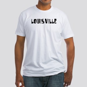 Louisville Faded (Black) Fitted T-Shirt